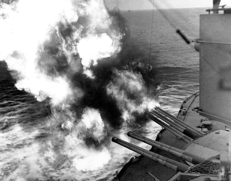 D-day naval bombardment-USS Nevada