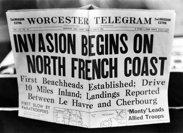D-day newspaper headline