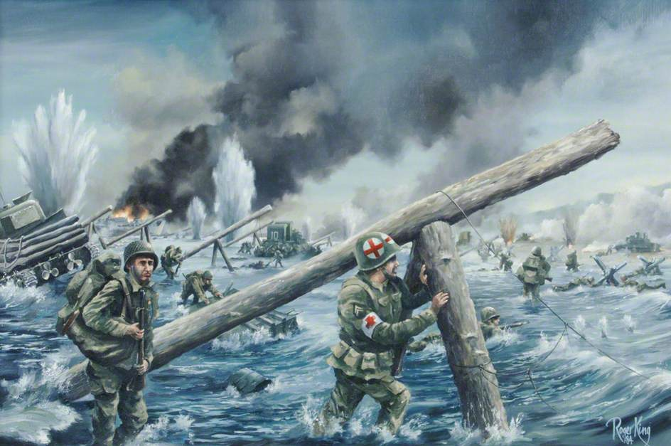 D-day painting