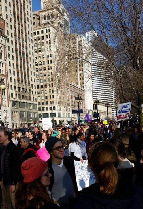 Dale's pic - crowds at the march