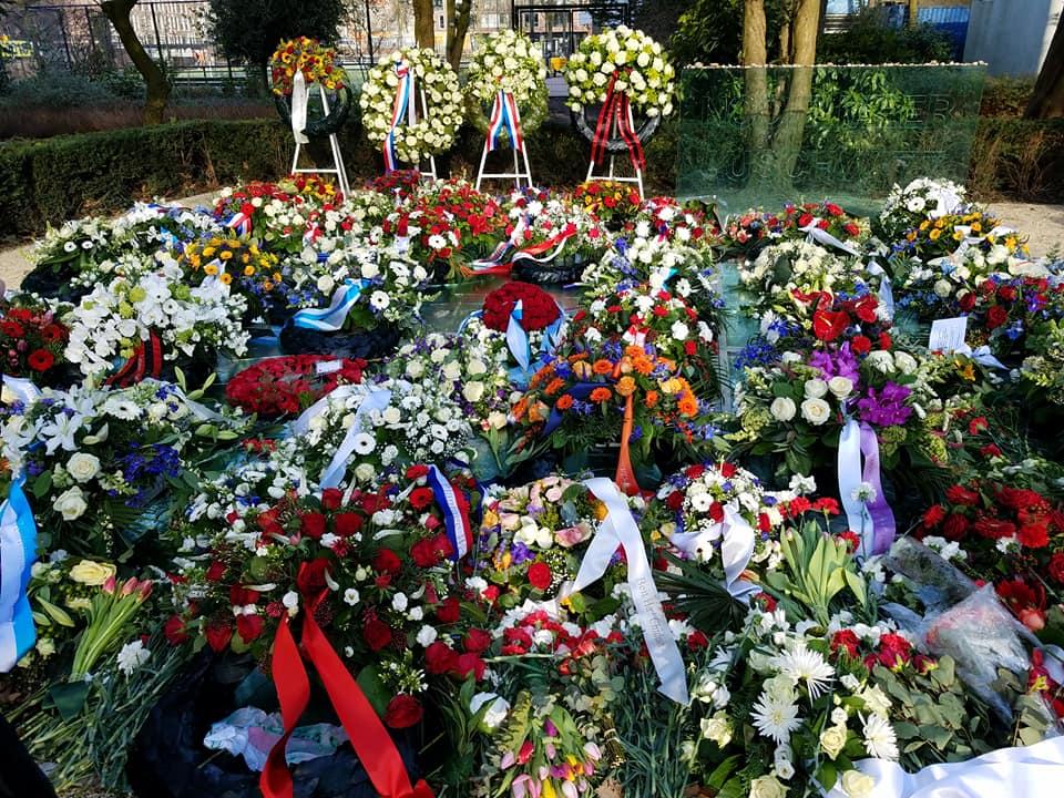1-30 flowers at Auschwitz Memorial