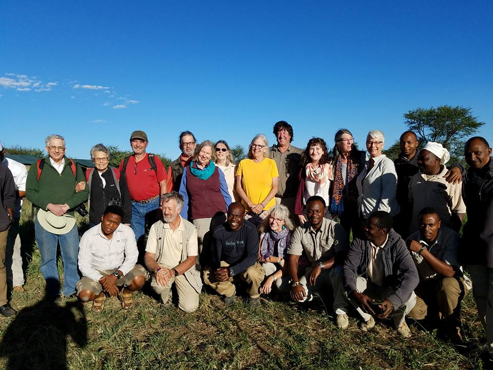 2-13 group photo at Ang'ata Camp, Serengeti