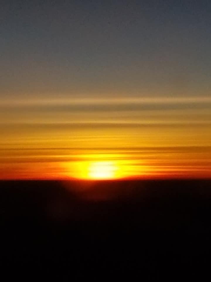 2-2 sunset on airplane