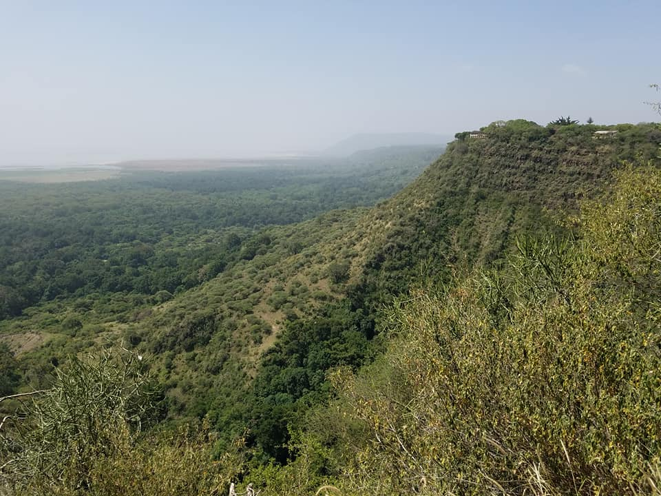 2-6 view from top of Ngorongoro Crater