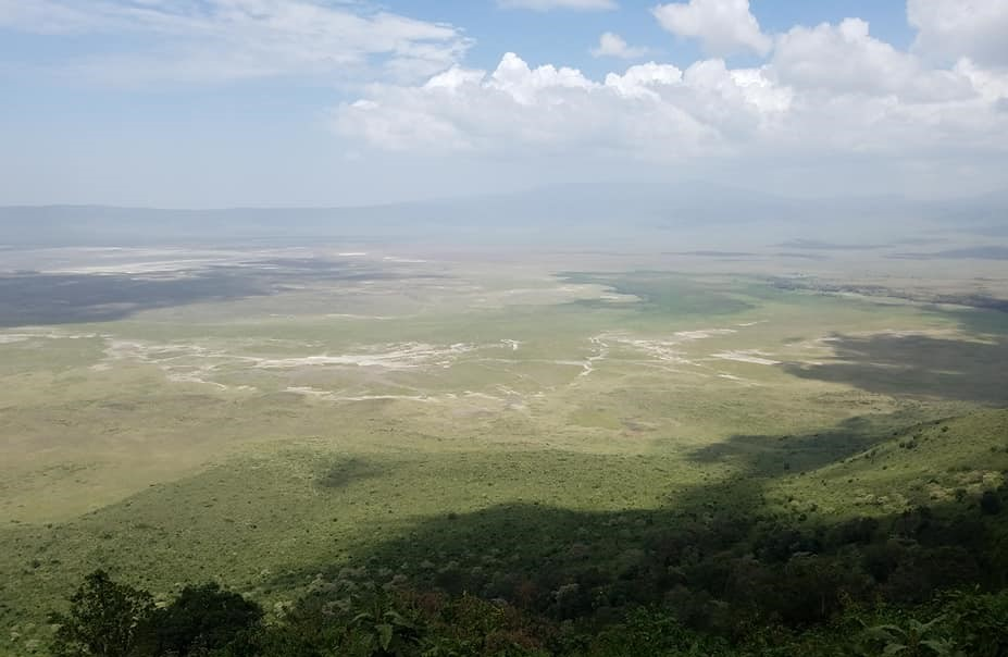 2-6 view of bottom of Ngorongoro Crater