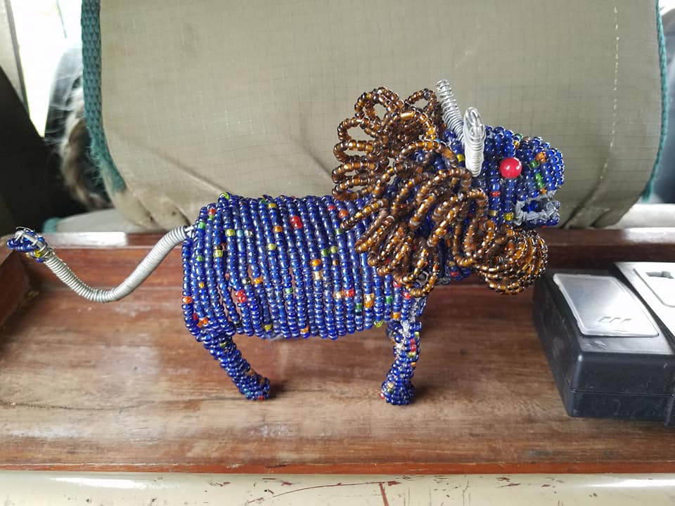 2-7 beaded lion I bought from Maasai