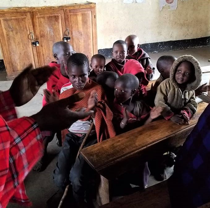 2-7 children in school at Maasai village