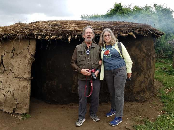 2-7 Dale & Katy in front of Maasai house