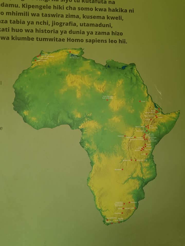 2-8 Oldupai-map of sites where fossils of early man were found