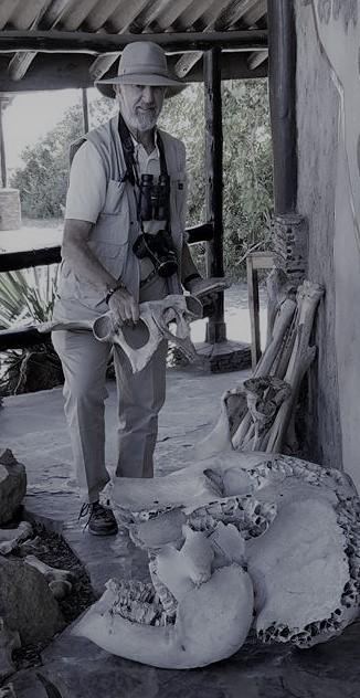 2-13 David with animal bones at Serengeti NP Visitors Center (3)