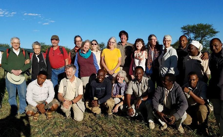 2-13 group photo at Ang'ata Camp, Serengeti