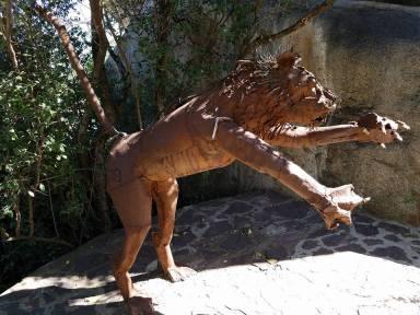 2-13 lion sculpture at Serengeti NP Visitors Center