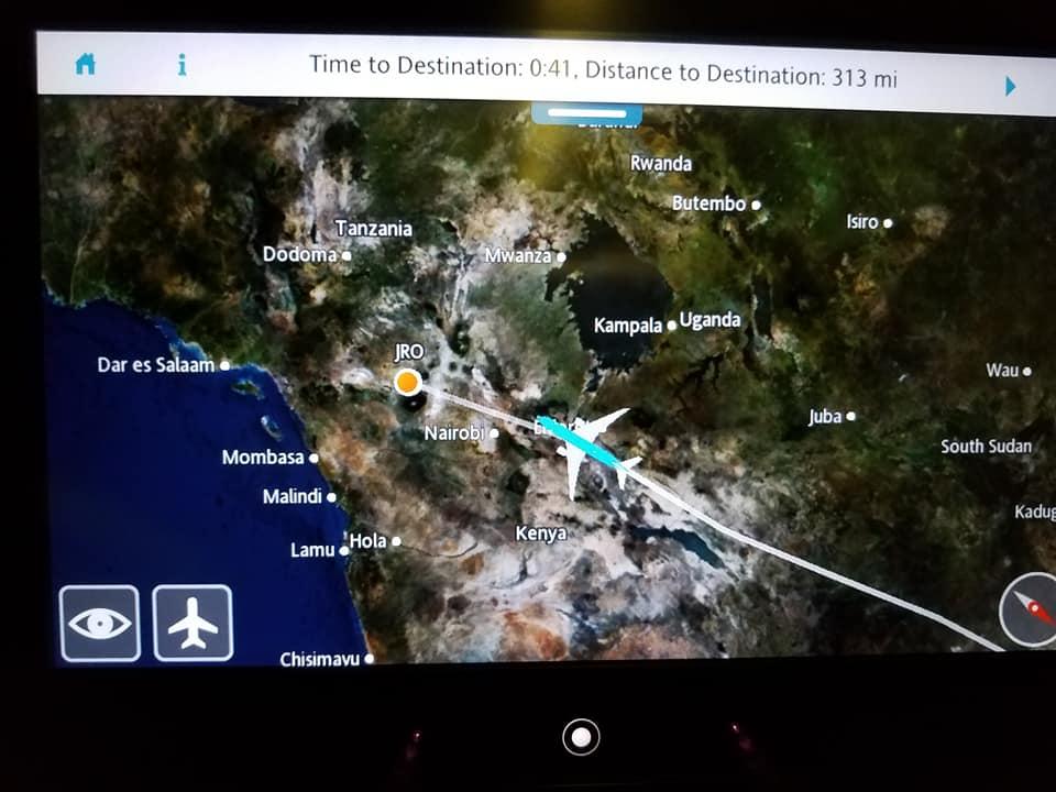 2-2 flight path to Kilimanjaro