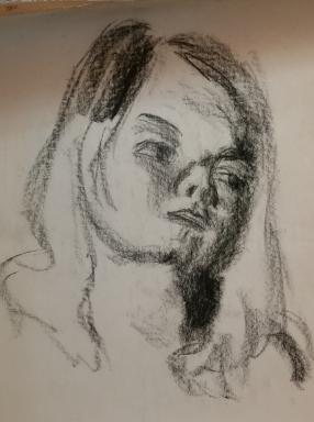 classmate (charcoal pencil)