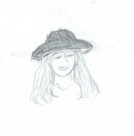 Doodle-woman in hat