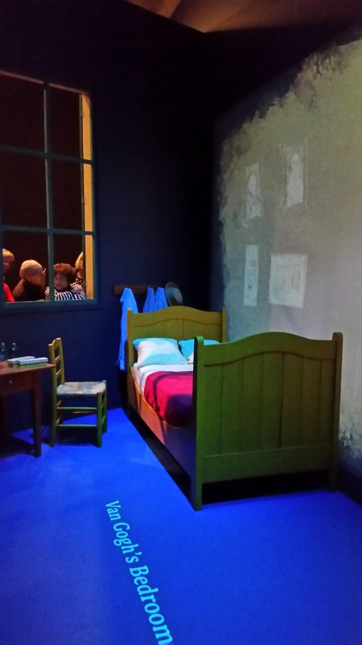 Replica of Van Gogh's bedroom in the yellow house in Arles.