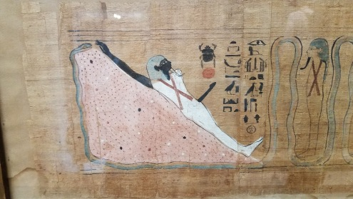 Painting from a tomb showing the deceased sexuality