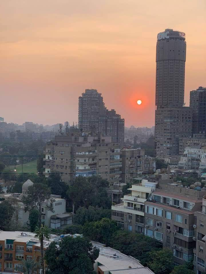sunset in Cairo from Marriott