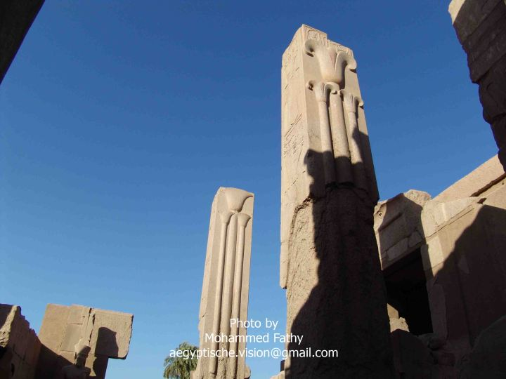 Karnak (104) - pillars of Thutmose III