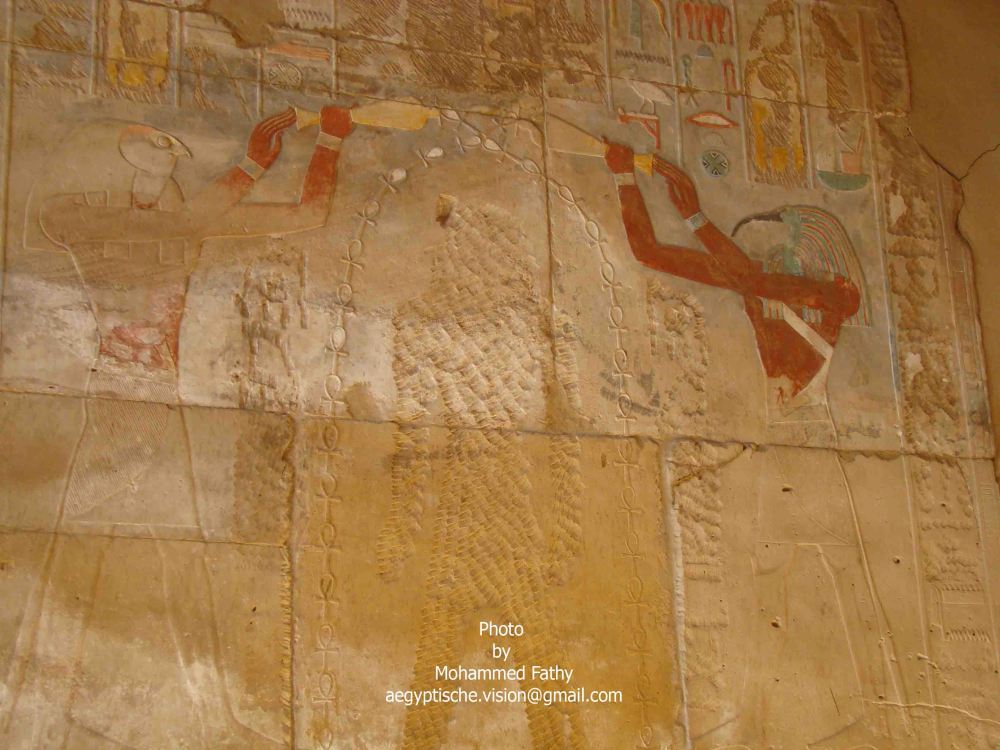 Karnak (150) - Horus & Thoth pouring water onto crossed out god