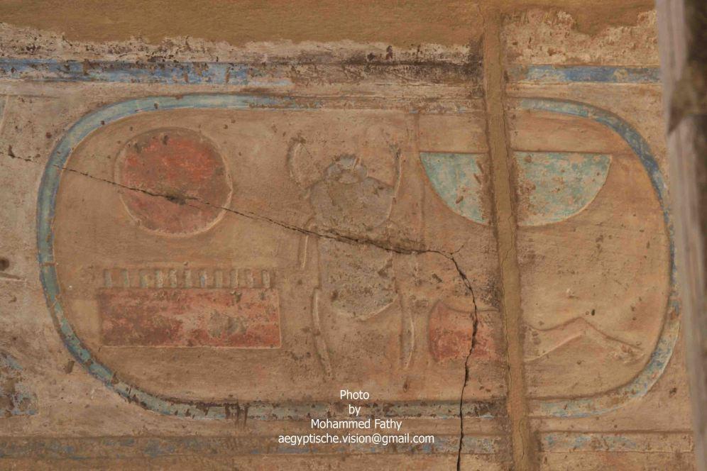 Karnak (416)-cartouche with scarab