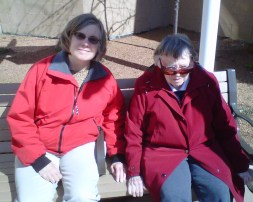 Katy & Mother at Cedar Crest, March 2010