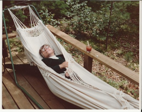 MTL in hammock at cottage