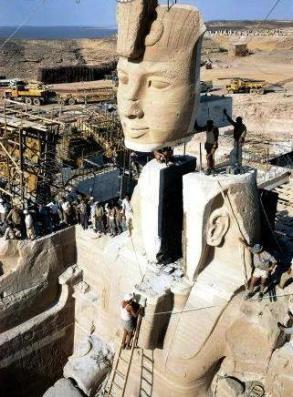 Rebuilding the Great Temple of Abu Simbel.