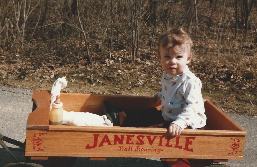 Jayme Villa Alvarez - in Janesville wagon