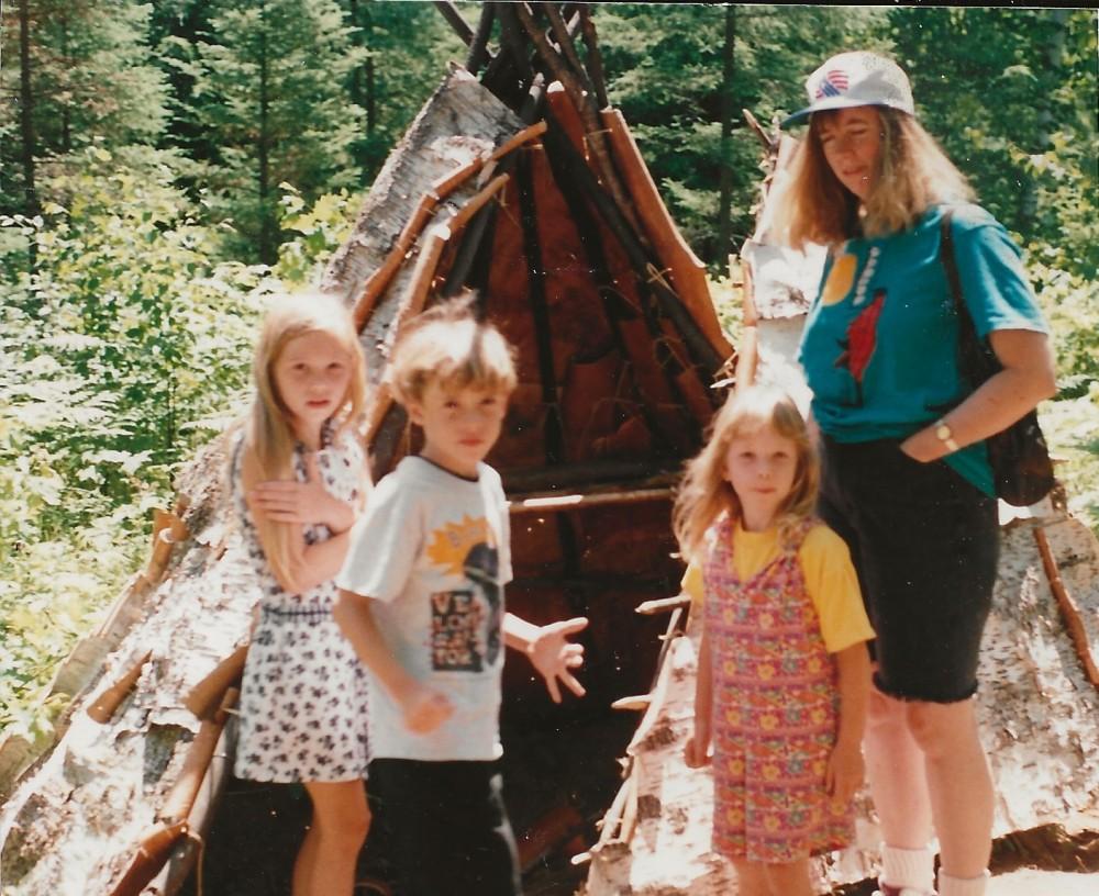 Leslie, Jayme, Allie & Katy - at Native Village in Lac du Flambeau