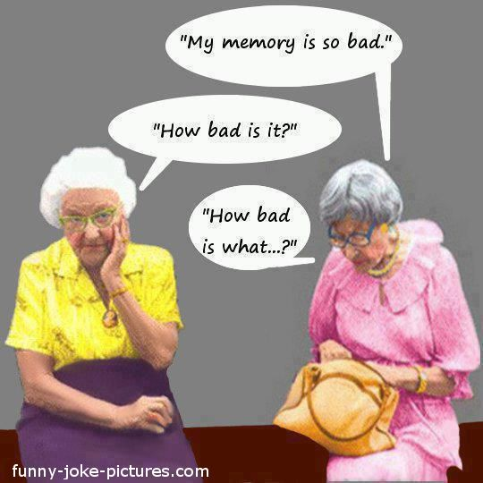 old ladies with failing memories