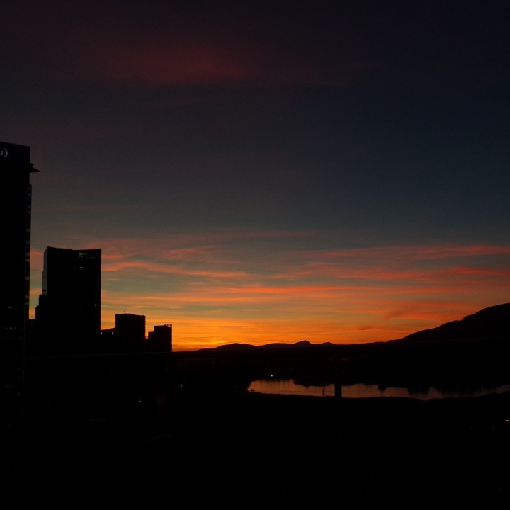 Sunset at 8:39 pm PDT in Vancouver