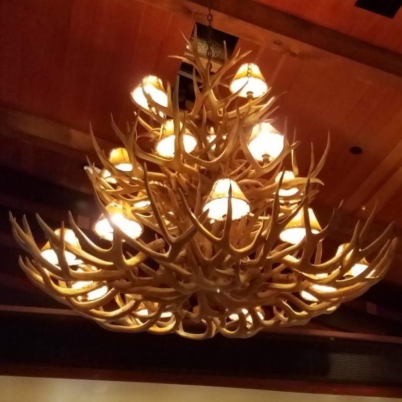 20190718_193601 Antler chandelier at Claim Jumper