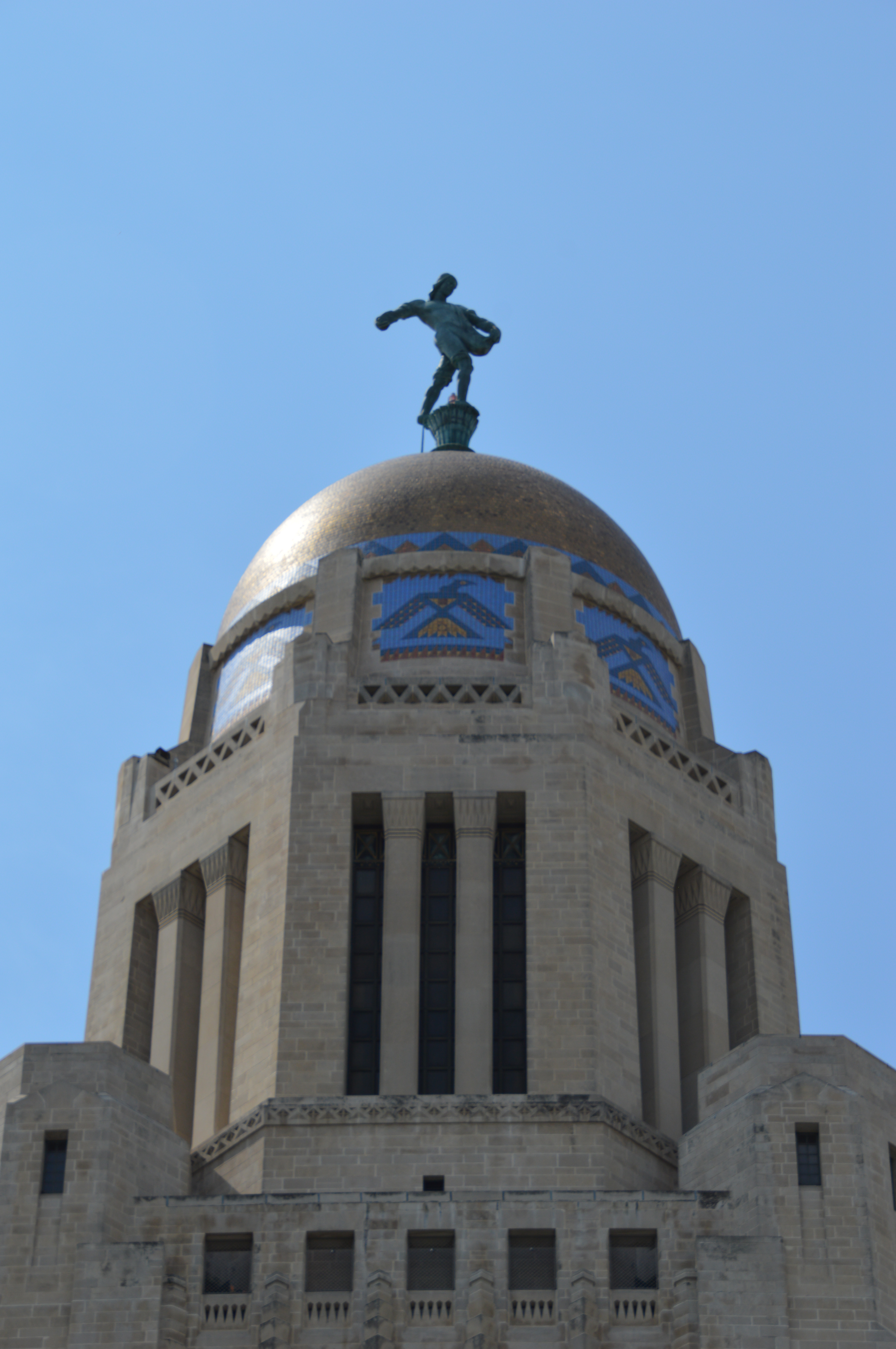 DSC_0057 Nebraska capitol dome - outside