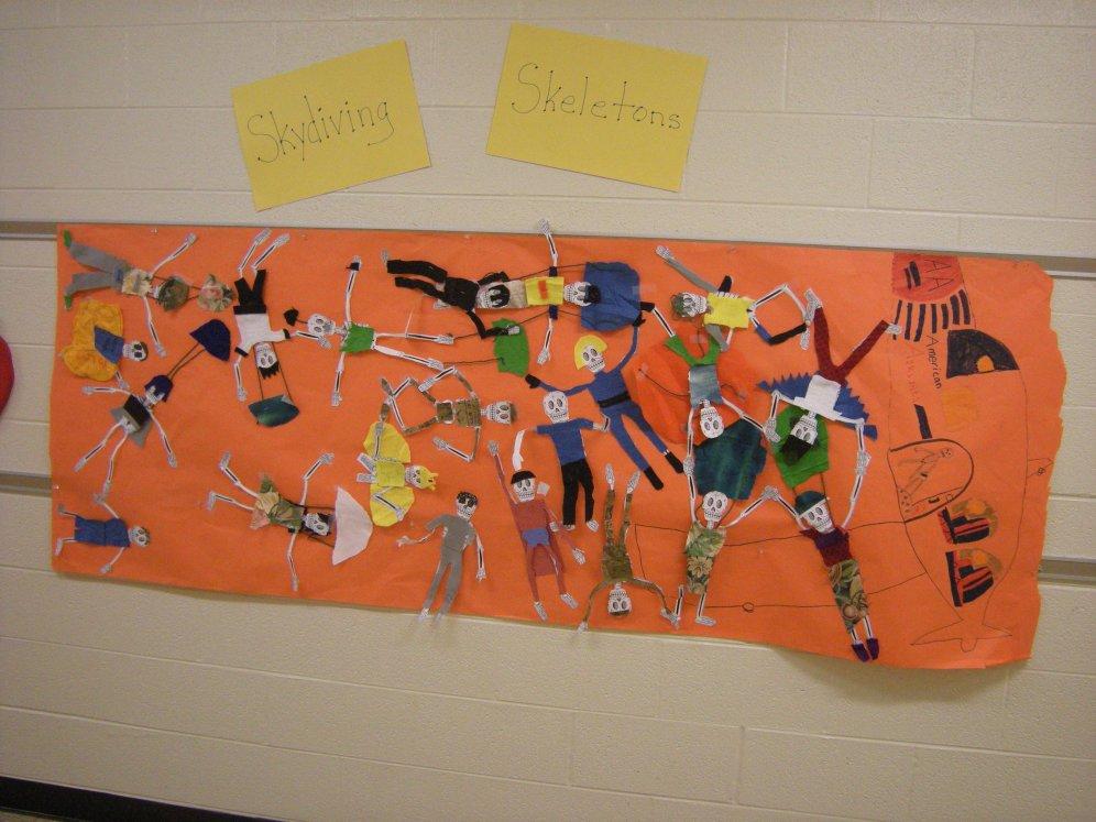 Skydiving skeletons (5th grade)