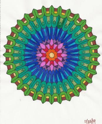 19-11-25 Rainbow wheel - markers
