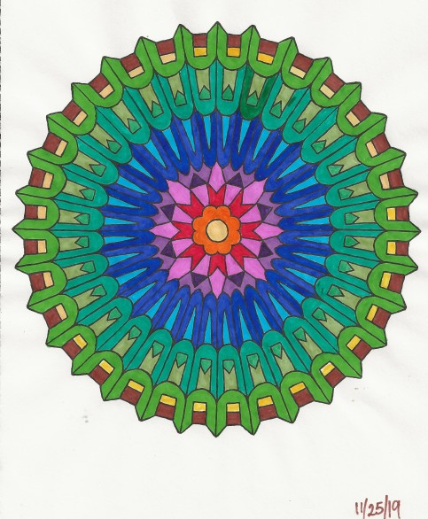 19-11-25 Rainbow wheel - markers
