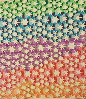 Rainbow Tesselation 11-19-19 gel pens