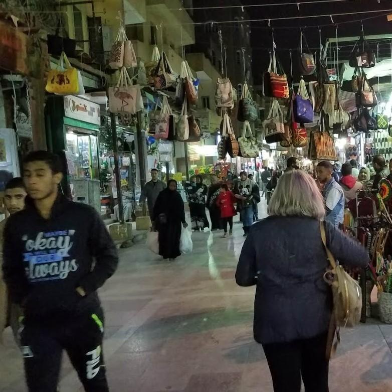 Nighttime in Aswan's market
